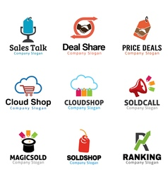 Shop Marketing Design vector image