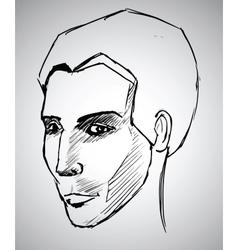 Sketch portrait of a man vector image