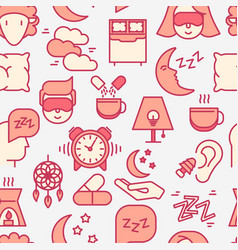 Sleep and insomnia seamless pattern vector