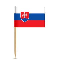 slovakia flag toothpick vector image