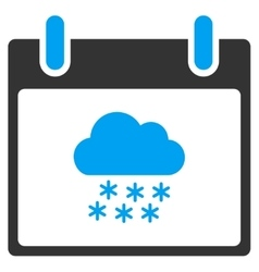 Snow Cloud Calendar Day Toolbar Icon vector image