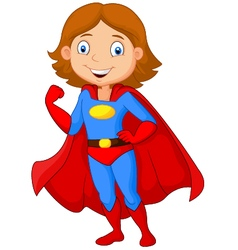 Superhero girl vector image