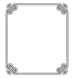 thin black ornamental frame vector image