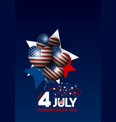 Usa 4 of july happy independence day design vector