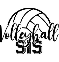 Volleyball sis isolated on white background vector