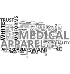 white swan medical uniforms which is right vector image