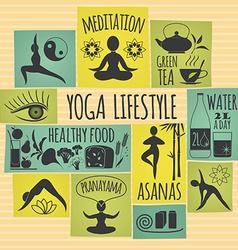 Yoga lifestyle vector