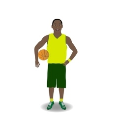 Basketball-player with ball vector image