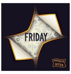 Black Friday - begins vector image