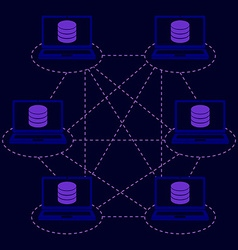 distributed database blockchain vector image vector image