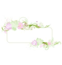 lotus banner vector image vector image