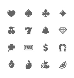 Simple Slot Machine Icons vector image vector image