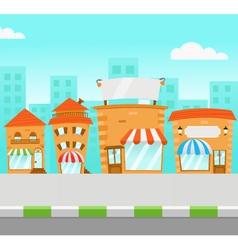 Strip mall vector