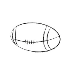 american football ball sport equipment image vector image