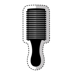 hair brush isolated icon vector image