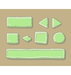 Set of cartoon green buttons for web or game vector image vector image