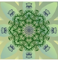 Stylized mandala star on green banner vector image vector image