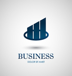 Abstract business icon design vector image