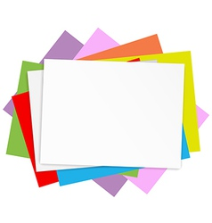 Empty colored papers vector image vector image