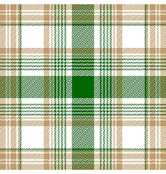 Green beige white check plaid seamless pattern vector image vector image