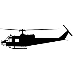 military helicopter vector image vector image