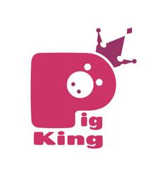 royal pork logo vector image