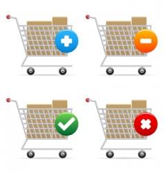 shopping carts icons vector image vector image