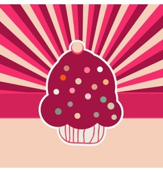 Vintage Cupcakes Card Background vector image vector image