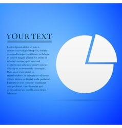 Business pie chart Info graphics flat icon on blue vector image vector image