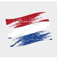 color netherlands national flag grunge style eps10 vector image vector image