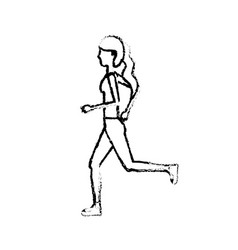 figure healthy woman doing exercise vector image vector image