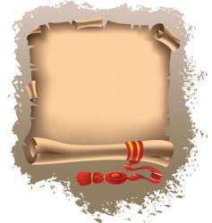 grunge scroll vector image