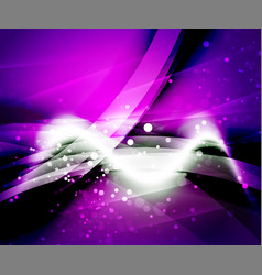 shiny wave magicabstract background vector image