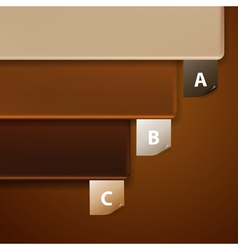 Three frames vector image