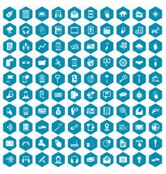100 mobile icons sapphirine violet vector