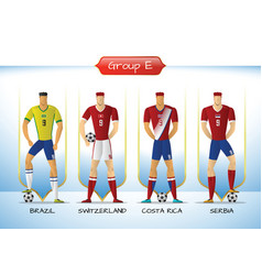 2018 soccer or football team uniform group e vector