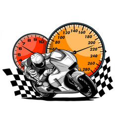 a motorcycle racer sport vector image