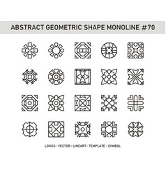 Abstract geometric shape monoline 70 vector
