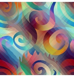 Abstract geometric spirales vector