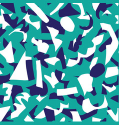 abstract paper cut shapes seamless pattern vector image