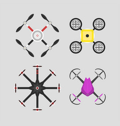 aerial vehicle drone vector image