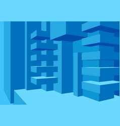Architecture background with abstract cubes vector