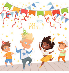 background at children dance party vector image