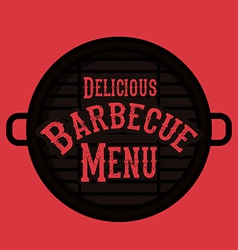 BBQ design vector image