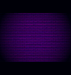 black brick wall for background vector image