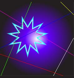 bright neon flash vector image