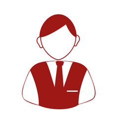 Businessman avatar silhouette icon vector