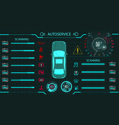 car service diagnostic standdigital car vector image