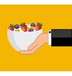 cereal bowl menu icon vector image