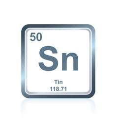 Chemical element tin from the periodic table vector